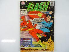 FLASH #175 - (1967 - DC - UK Cover Price) - Second Superman vs. Flash race + Justice League