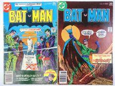 BATMAN #291 & 292 - (2 in Lot) - (1977 - DC - UK Cover Price) - Joker, Riddler, Cat-Woman, Poison