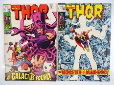 THOR #168 & 169 - (1983 - MARVEL - Uk Price Variant) - Run includes Origin of Galactus + Watcher,