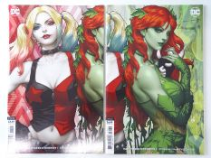 HARLEY QUINN & POISON IVY #1- (2 in Lot) - (2020 - DC) - Artgerm overlapping cardstock variant