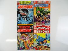 CHALLENGERS OF THE UNKNOWN #73, 76, 77, 80 - (4 in Lot) - (1970/71 - DC - US Price & UK Cover Price)