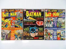 BATMAN #182, 184, 185 - (3 in Lot) - (1966 - DC - US PRICE & UK Cover Price) - Flat/Unfolded