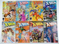 UNCANNY X-MEN #213, 214, 215, 216, 217, 218, 219, 220 - (8 in Lot) - (1987 - MARVEL) - Flat/