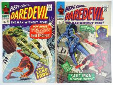 DAREDEVIL #25 & 26 - (2 in Lot) - (1967 - MARVEL - UK Price Variant) - Flat/Unfolded - a