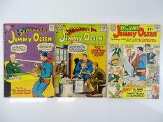 SUPERMAN'S PAL JIMMY OLSEN #22 & 23 + GIANT-SIZE #2 - (3 in Lot) - (1957 & 1964 - DC - US Price & UK