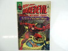 DAREDEVIL #13 - (1966 - MARVEL - UK Price Variant) - Origin of Ka-Zar and the Plunderer - Zabu