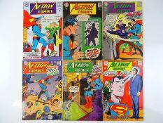 ACTION COMICS: SUPERMAN #354, 355, 356, 357, 359, 362 - (6 in Lot) - (1967/68 - DC - US Price & UK