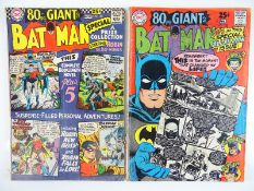 BATMAN #185 & 198 - (2 in Lot) - (1965/68 - DC - UK Cover Price) - Giant-Size Issues - Flat/Unfolded