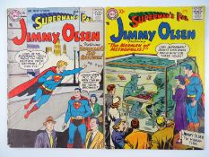 SUPERMAN'S PAL JIMMY OLSEN #19 & 20 - (2 in Lot) - (1957 - DC) - Flat/Unfolded - a photographic