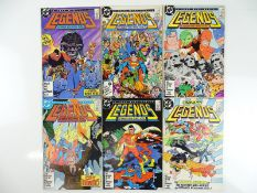 LEGENDS #1, 2, 3, 4, 5, 6 - (6 in Lot) - (1986/87 - DC) - Complete 6 Issue Set for the DC Mini-