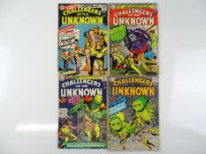 CHALLENGERS OF THE UNKNOWN #48, 49, 50, 54 - (4 in Lot) - (1966/67 - DC - UK Cover Price) - Flat/