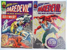 DAREDEVIL #23 & 24 - (2 in Lot) - (1966/67 - MARVEL - UK Price Variant) - Flat/Unfolded - a