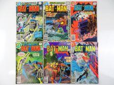 BATMAN #308, 309, 310, 311, 312, 314 - (6 in Lot) - (1979 - DC - UK Price Variant) - Flat/Unfolded