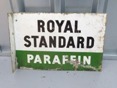"""ROYAL STANDARD (18"""" x 12"""") - flanged double sided enamel advertising sign"""