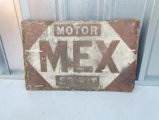 "MEX MOTOR SPIRIT (21"" x 13"") double sided enamel advertising sign"