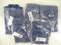 MCDONALDS: A group of McDonald's branded Denim shirts in various sizes still in packets (5)