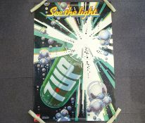 7-UP 'Seven-Up - See the Light' (101cm x 152cm) advertising poster with image of exploding drinks