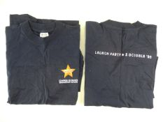 A pair of VIRGIN radio XL t-shirts for the launch of the Chris Evans Breakfast Show (1998) (2)
