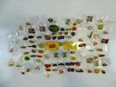 A large group of mixed MCDONALDS employee pins