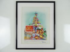 MCDONALDS: DISNEYLAND PARIS - Framed and glazed limited edition print 8/30 - 'It's the magic of
