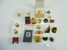 A mixed group of international MCDONALDS pins (21)