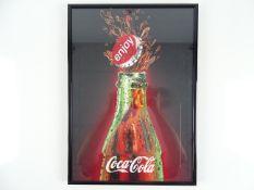 COCA-COLA: A framed and glazed print 'Enjoy Coca-Cola' - image of classic contour Coca-Cola