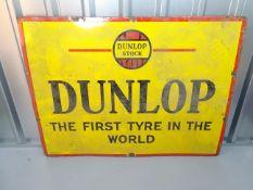 "DUNLOP (48"" x 36"")- enamel single sided advertising sign"