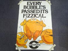 CORONA 'Every Bubble's passed its fizzical' (101cm x 152cm) advertising poster - rolled