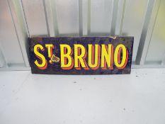 "ST BRUNO (26"" x 9.5"") - enamel single sided advertising sign"