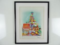 MCDONALDS: DISNEYLAND PARIS - Framed and glazed limited edition print 10/30 - 'It's the magic of our
