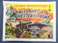 ALL QUIET ON THE WESTERN FRONT (1930) - British UK Quad - This colourful, stone-litho style poster