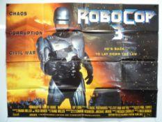 ROBOCOP - A selection of items comprising a UK Quad for ROBOCOP 3 (folded) a ROBOCOP German lobby