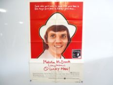 OH LUCKY MAN! (1973) - Vivid photographic image of MALCOLM MCDOWELL - US One Sheet
