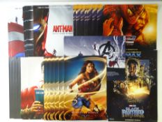 SUPERHERO: A large quantity of promotional posters for: WONDER WOMAN, AVENGERS: END GAME,