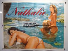 NATHALIE (1981) - British UK Quad - Sexy artwork for this 'Lust & sex in the Greek Islands' Cannon