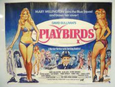 PLAYBIRDS (1980) - British UK Quad - Tom Chantrell artwork featuring Mary Millington - Uncut