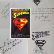 SUPERMAN: 'THE DEATH AND LIFE OF SUPERMAN' A hardback copy of Roger Stern's novel book: published