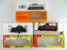 A group of European Outline diesel shunting locomotives by FLEISCHMANN and PIKO - F/G in F/G