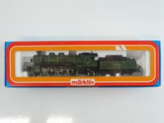 A MARKLIN 3092 Bavarian Outline 3 rail AC Class S3/6 steam locomotive in K.Bay.Sts.B green