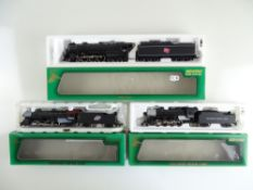A group of American Outline steam locomotives by MEHANO - G/VG in G/VG boxes (3)