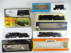 A group of American Outline steam locomotives by MANTUA, PEMCO, AHM and others - F/VG in F/G