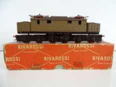 A vintage RIVAROSSI Le 626 Italian Outline electric locomotive - G/VG in F/G box