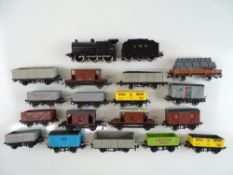 A group of HO Scale British Outline rolling stock by LIMA to include an LMS Class 4F steam loco