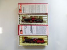 A pair of American Outline 4-4-0 steam locomotives by Rivarossi in Virginia & Truckee liveries -
