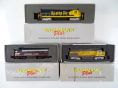 A group of American Outline diesel locomotives by BACHMANN - G/VG in F/G boxes (3)
