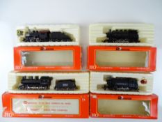 A group of American Outline steam locomotives by RIVAROSSI - G/VG in F/G boxes (4)