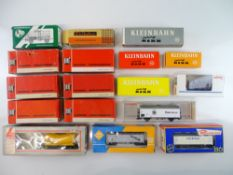 A group of European Outline goods wagons by RIVAROSSI, JOUEF, KLEINBAHN and others - G/VG in F/G
