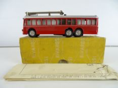 A rare RIVAROSSI MinoBus motorised trolleybus in red livery - in original box and with