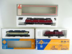A group of German Outline diesel locomotives by ROCO and LIMA - G/VG in F/G boxes (3)