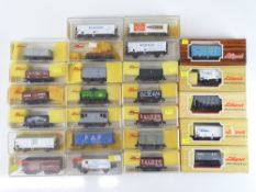 A group of mixed LILIPUT Continental and British Outline HO/OO wagons - G/VG in F/G boxes (25)